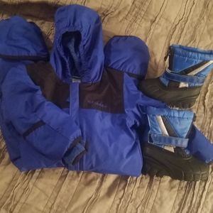 18m OmniTech Columbia snow suit with snow boots